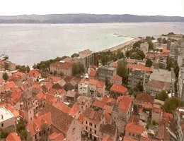 Omiš – Altstadt Panorama Webcam Live