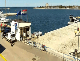 Umag: Riva Umag – Hafen Webcam Live