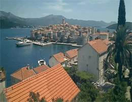 Korčula – Stadtpanorama Webcam Live