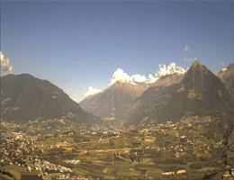 Schenna – Blick über Meran Webcam Live