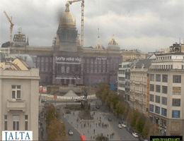 Prag – Wenzelsplatz und Nationalmuseum Webcam Live