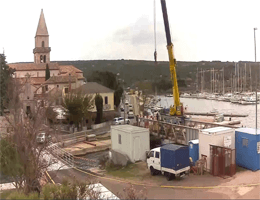 Osor (Mali Lošinj) – Hafenblick Webcam Live