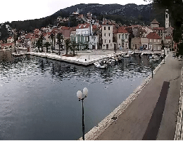 Jelsa (Hvar) – Hafenpromenade Webcam Live
