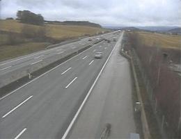 A01 West Autobahn: Bei Anschlussstelle Melk, Blickrichtung Linz – Km 81,00 webcam Live