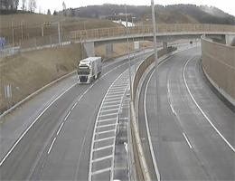 S10 Mühlviertler Schnellstraße Blickrichtung Prag Km 8,56 Webcam Live