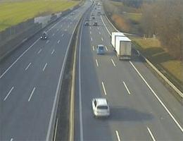 A01 West Autobahn: Bei Anschlussstelle Amstetten West, Blickrichtung Linz – Km 115,60 webcam Live