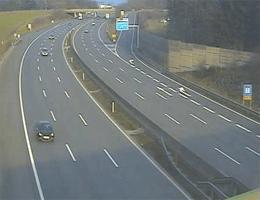A01 West Autobahn: Bei Anschlussstelle Amstetten West, Blickrichtung St. Pölten – Km 122,50 webcam Live