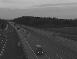 A01 West Autobahn: Bei Anschlusstelle Allhaming, Blickrichtung Wien – Km 182,50 webcam Live