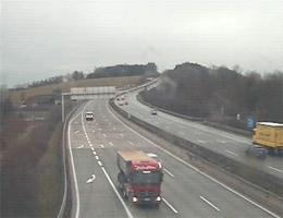 A01 West Autobahn: Bei Knoten Haid, Blickrichtung Salzburg – Km 175,21 webcam Live