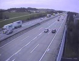 A01 West Autobahn: Bei Knoten Linz, Blickrichtung Salzburg – Km 168,50 webcam Live