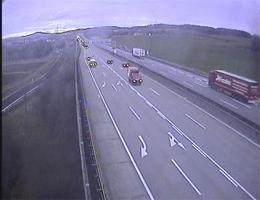 A01 West Autobahn: Bei Knoten Linz, Blickrichtung Wien – Km 168,50 webcam Live
