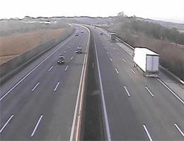 A01 West Autobahn: Zwischen Anschlussstelle Oed und Haag, Blickrichtung Linz – Km 136,88 webcam Live