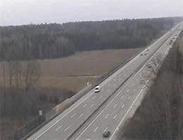 A01 West Autobahn: Zwischen Anschlussstelle Sattledt und Anschlussstelle Allhaming, Blickrichtung Wien – Km 189,44 webcam Live