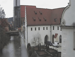 Amberg – Landratsamt AS Blick zum Rosengarten webcam Live