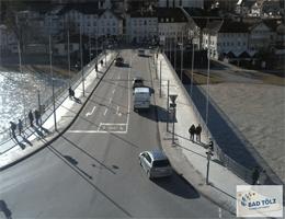 Bad Tölz – Isarbrücke webcam Live