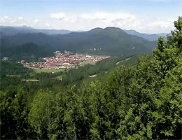 Delnice – Panorama Blick vom Skigebiet Petehovac webcam Live