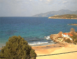 Kalogria Strand webcam Live