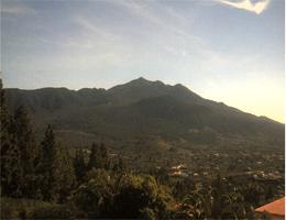 La Palma – Blick auf La Cumbre und El Birigoyo webcam Live