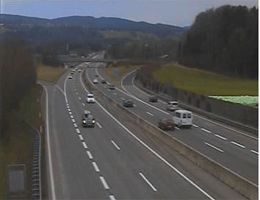 A01 West Autobahn Blickrichtung Salzburg Km 242,10 Webcam Live