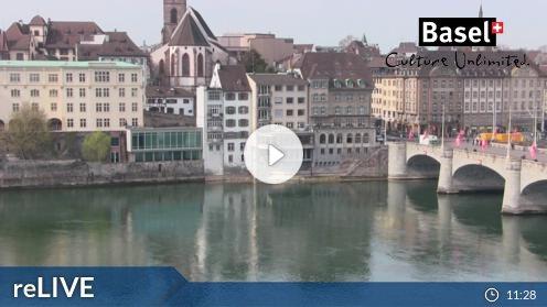 Basel: Hotel Krafft, Mittlere Brücke Webcam Live