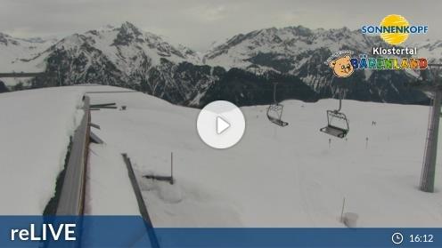 Klösterle – Bergstation Riedkopf webcam Live
