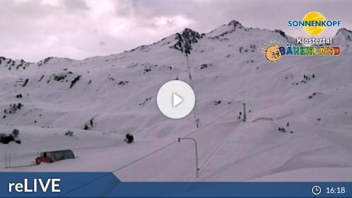 Klösterle – Bergstation Sonnenkopf webcam Live
