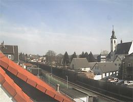 Oestrich-Winkel – Blick zur Kirche nach Osten webcam Live