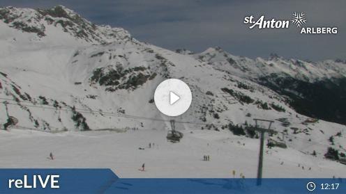 St. Anton am Arlberg – Galzig Bergstation webcam Live