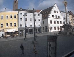 Straubing – Blick auf den Theresienplatz von Donau TV webcam Live