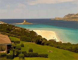 Stintino (Sardinien) Spiaggia della Pelosa Webcam Live