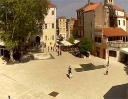 Zadar Trg Petra Zoranića Webcam Live