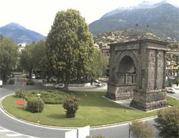 Aosta Arco d'Augusto Webcam Live