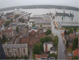 Klaipėda – Blick auf den Hafen Webcam Live
