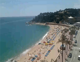 Lloret de Mar – Hauptstrand Webcam Live