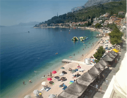 Podgora – Strandpanorama Webcam Live