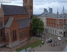 Riga – Dom zu Riga und Domplatz Webcam Live