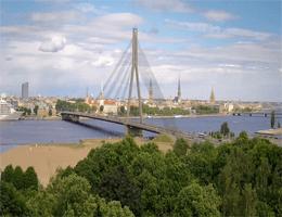 Riga – Vanšu-Brücke Webcam Live