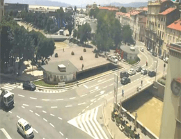 Rijeka Tito-Platz und Fiumara Webcam Live