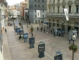 Rijeka Zentrum Korzo Webcam Live