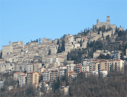 San Marino– Stadtzentrum Webcam Live