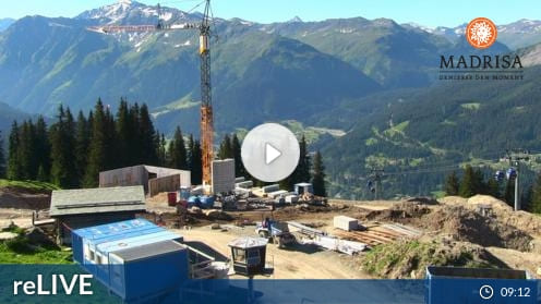 Klosters Dorf – Madrisa Kinderland Webcam Live