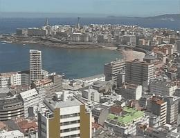 A Coruña Blick über A Coruña Webcam Live