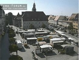 Finsterwalde: Rathaus und Marktplatz Webcam Live
