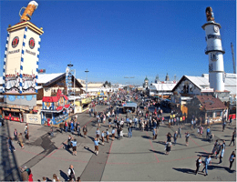München: Oktoberfest – Wirtsbudenstraße Webcam Live