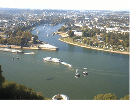 Koblenz – Deutsches Eck Webcam Live