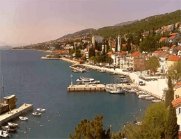 Selce – Hafen und Promenade Webcam Live