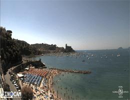 Lerici – Spiaggia Venere Azzurra Webcam Live