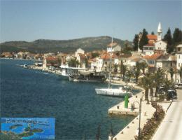 Rogoznica Hafenpromenade Webcam Live
