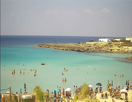 Pulsano – Spiaggia di Montedarena Webcam Live