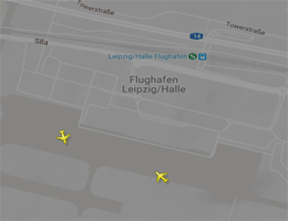 Flughafen Leipzig/Halle Flugverfolgung live
